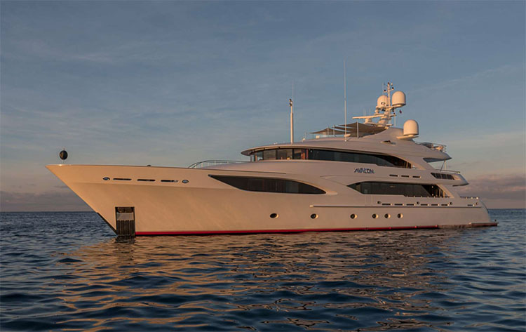 151ft Delta Marine motor yacht AVALON operates in the Bahamas, the Caribbean and New England