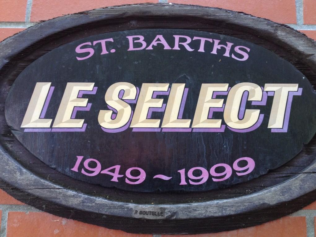 LeSelect restaurant sign, St.Bart's in the Caribbean photo©CarolKent