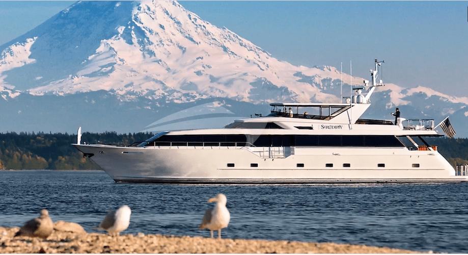 103ft Broward motor yacht BLACKWOOD operates in Seattle, West Coast and Juneau, Alaska