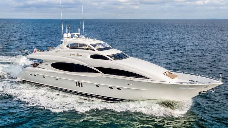 106ft Lazzara motor yacht CEDAR ISLAND operates in Florida, the Bahamas and New England