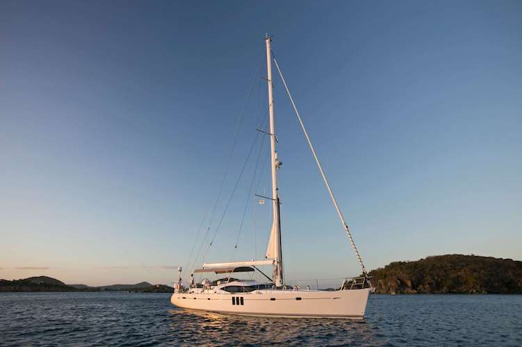63ft Oyster sailing yacht LATITUDE operates in the East Coast United States