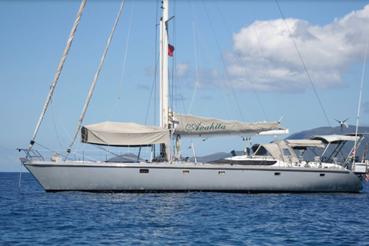 62ft Dynamiq sailing yacht ANAHITA operates in The Caribbean and the East Coast of the United States