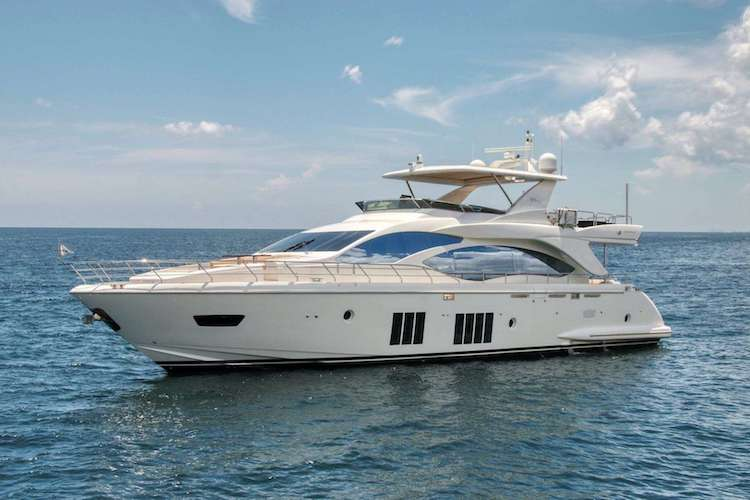84ft Azimut motor yacht VALERE operates in the Caribbean and New England