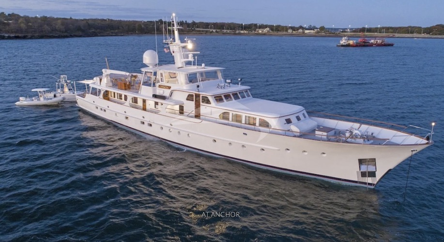 132ft Feadship motor yacht CETACEA operates in Bahamas and New England
