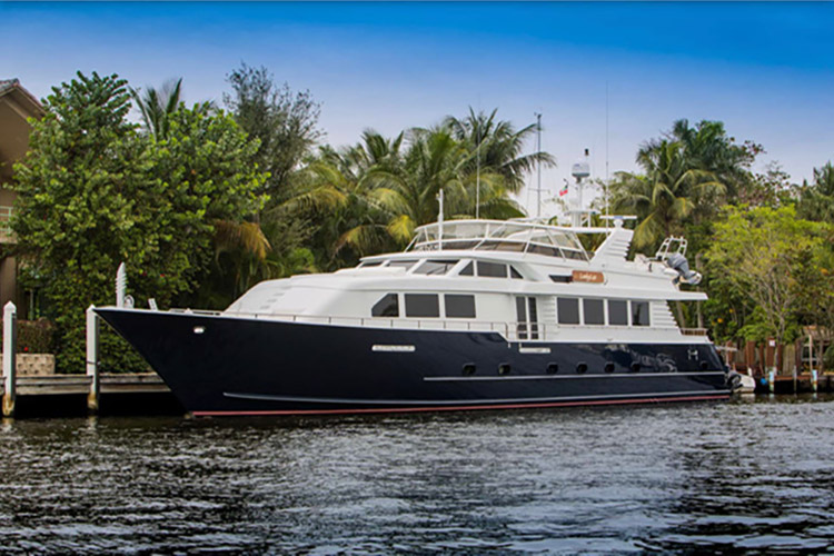 100ft Broward motor yacht LADY LEX operates in the Caribbean and the East Coast of the United States