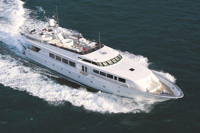 118ft Intermarine motor yacht SAVANNAH operates in South Florida, Bahamas and New England