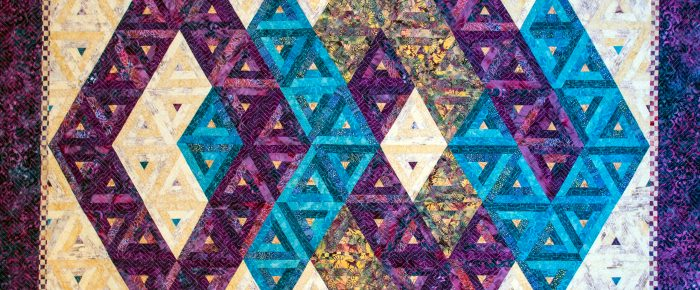 Island Batik Log Cabin Blog Hop – Meet Pythagoras