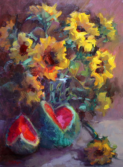 sunflowers-and-watermelon
