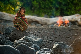 Village Girl on a Black Sand Beach - Ambrym Island, Vanuatu 2012