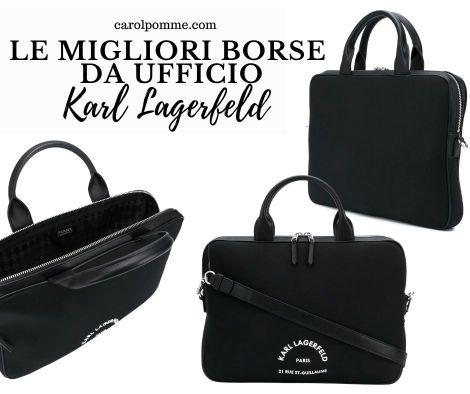 borsa da ufficio firmata Karl Lagerfeld