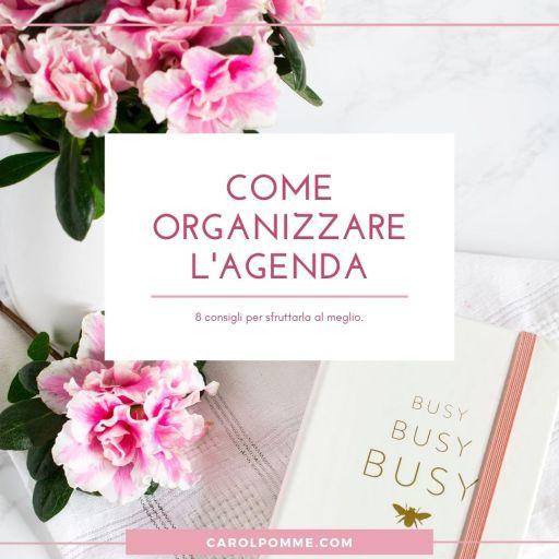 consigli per organizzare agenda planner