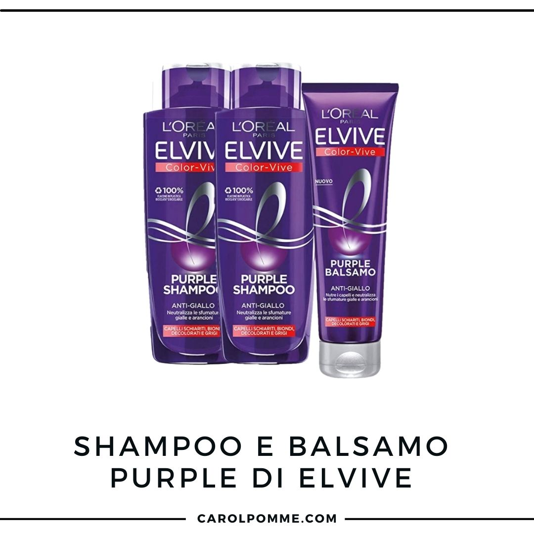 Elvive Color Vive Purple: review dello shampoo antigiallo
