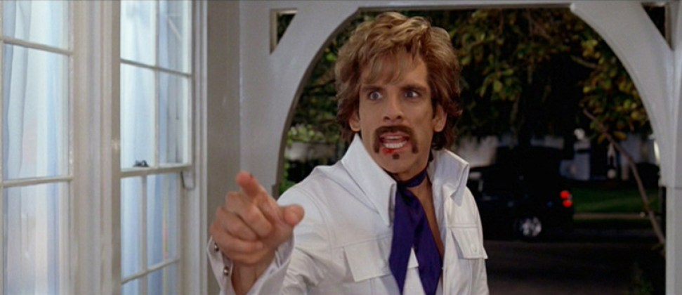 White Goodman in leather suit