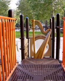 Carol Robbins' harp at the park.