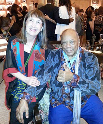 photo of Carol Robbins with Quincy Jones