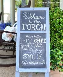 chalkboard porch sign