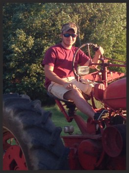 Jacob on the tractor