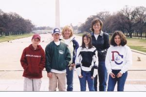 In front of Washington Monument