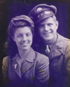 Grandma and Grandpa as newlyweds