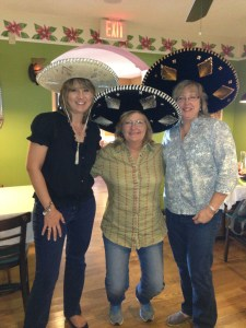 Me, Frieda and Julie celebrating Frieda's birthday at her favorite mexican restaurant