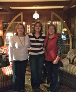 Frieda, me and Julie in beautiful Blowing Rock, N.C.