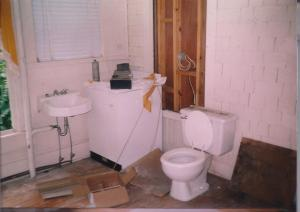 toilet on the sunporch
