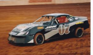 Jacob racing his dirt car