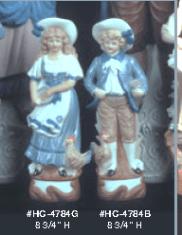 Alberta (Heinz) 4784B & 4784G colonial boy and girl