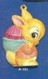 Alberta Ornaments 0191 boy bunny-egg in sack