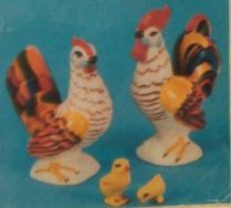 Duncan HM 0138 rooster & hen