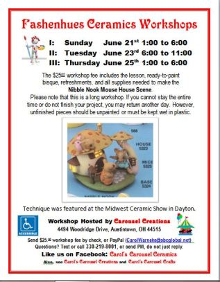 Fashenhues Ceramics Workshop I II III Nibble Nook Mouse House