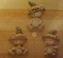 Kimple 0910 mouse magnets with witch hats
