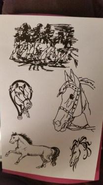 SSDHO-1 silkscreen horses-1