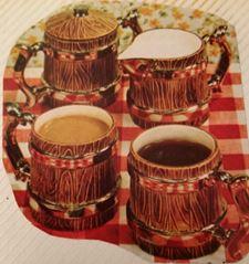 Duncan 0039 wood coffe cup set