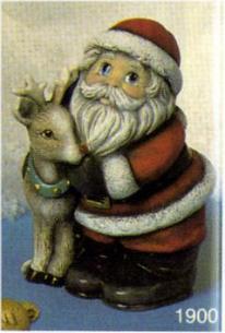 Scioto 1900 Santa with Deer deco sheet