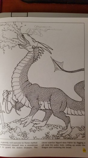 dragon drawing Fafnir