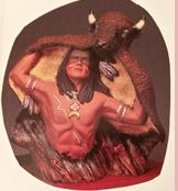 kimple 2232 Indian with buffalo headress