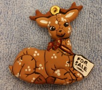 soft deer with tag orn