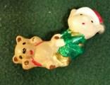 Wee Ones Elf with teddy bear orn