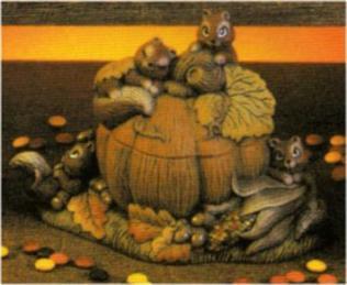 Dona 0234 Squirrel Harvest Jar