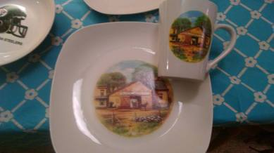 Harriets barn cup and plate decals