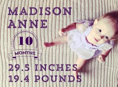 Maddie baby 10 month photos