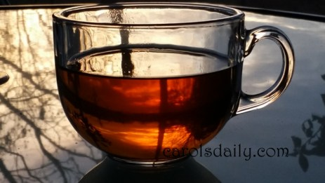 Sunrise through tea