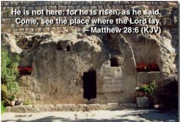 He is Risen - Just as He promised