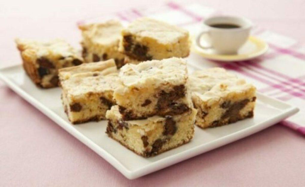 Brownie de Chocolate Branco e Tortinha