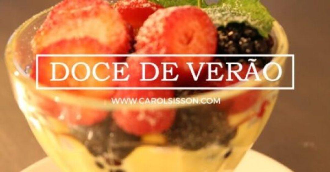 Zabaione com frutas vermelhas