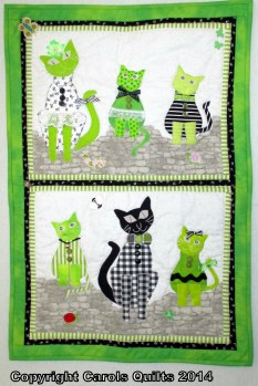 Caterwauling Cats Wall hanging Pattern