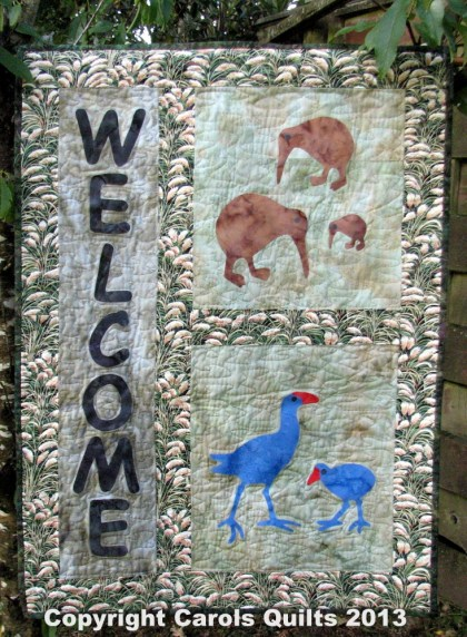 Carols Quilts Welcome WallHanging