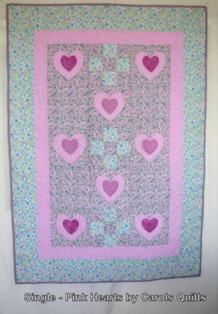 Single pink hearts