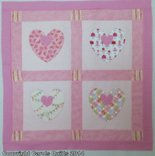 Using heart templates four and two inch